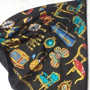 Adrienne Vittadini Royal Silk Scarf